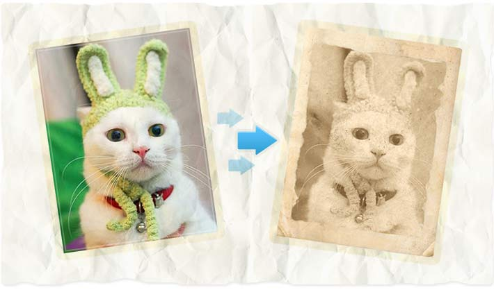 Old photo effect - funny photo editing