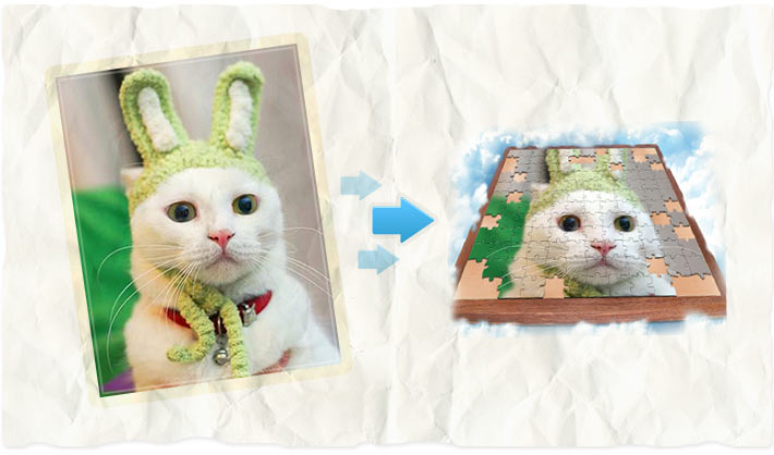 Puzzle effect - photo editing software