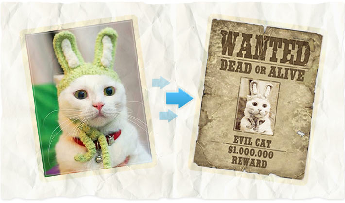 Wanted poster - photo editing